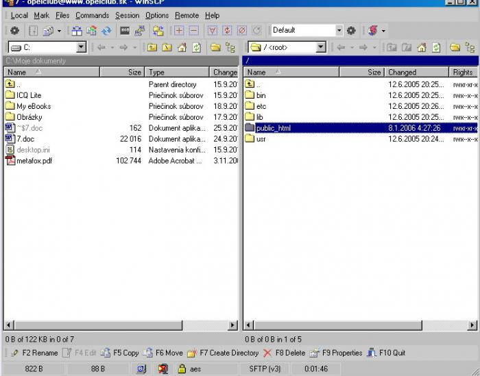 Platon Webhosting: Configuration of WinSCP software